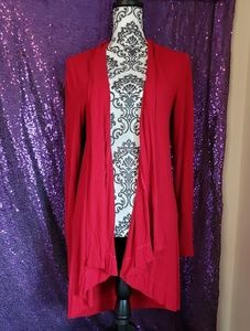 International Concept Red Drapd Cardigan